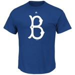 Majestic Men's Brooklyn Dodgers 1941 - 1957 Cooperstown Collection Short Sleeve T-shirt - view number 1
