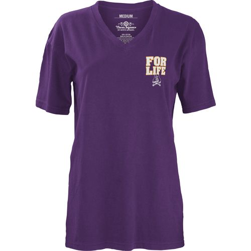 Three Squared Juniors' East Carolina University Team For Life Short Sleeve V-neck T-shirt - view number 2