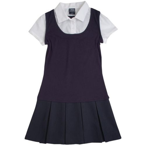 Display product reviews for French Toast Girls' 2-in-1 Pleated Uniform Dress