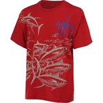 Guy Harvey Boys' Tuna Etching Short Sleeve T-shirt - view number 2