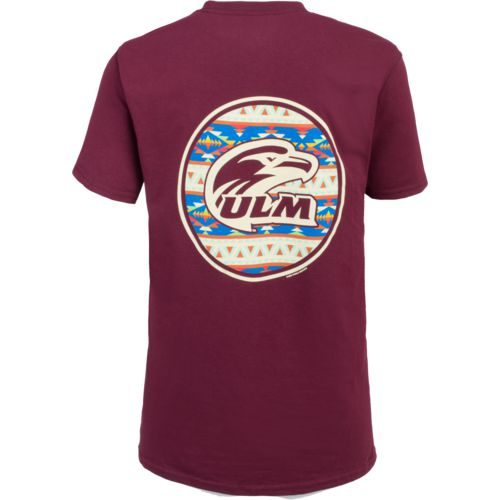 New World Graphics Women's University of Louisiana at Monroe Logo Aztec T-shirt