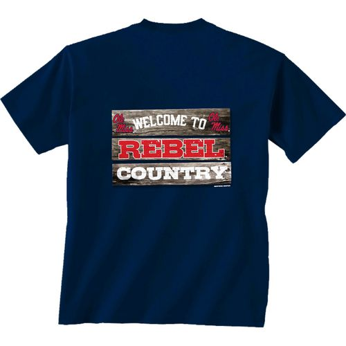 New World Graphics Men's University of Mississippi Welcome Sign T-shirt