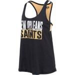 5th & Ocean Clothing Women's New Orleans Saints Glitter Tank Top - view number 3