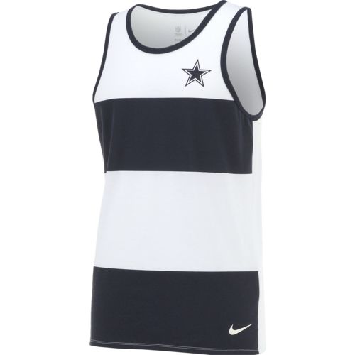 Nike Men's Dallas Cowboys Wide Stripe Tank Top - view number 3
