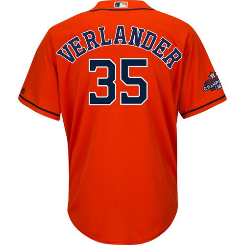 Majestic Men's Astros 2017 World Series Verlander Jersey with Patch
