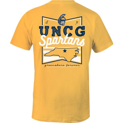 Image One Women's University of North Carolina at Greensboro Forever Script Flag T-shirt