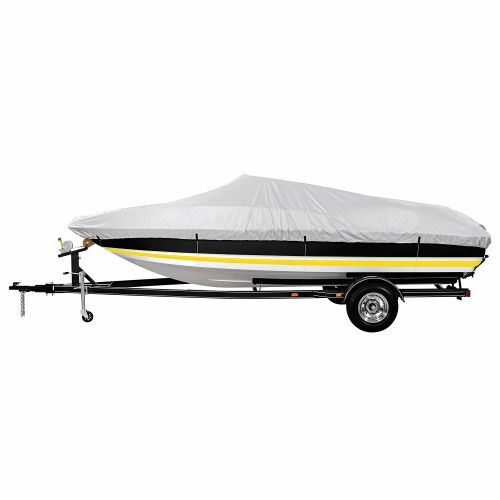 Marine Raider Silver Series Model B Boat Cover For 14' - 16' V-Hull, Tri-Hull Runabouts And Aluminum