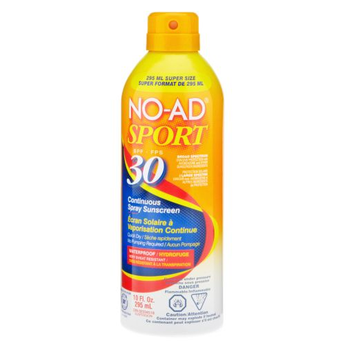NO-AD® Sport 10 oz. SPF 30 Continuous Spray Sunblock