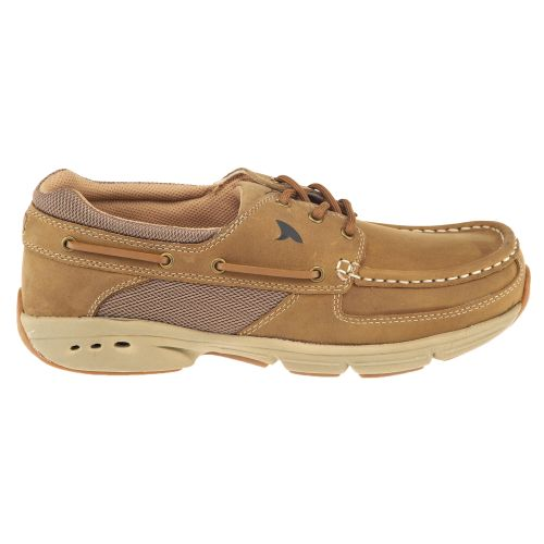 Rugged Shark Men's Hatteras 3-Eye Oxford Boat Shoes