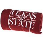 Logo Texas State University Sweatshirt Blanket