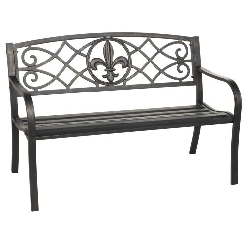 Display product reviews for Mosaic Fleur-de-Lis Park Bench