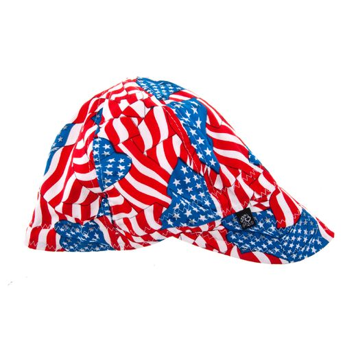 ZANHeadgear® Adults' Wavy Flag Pattern Welder's Cap