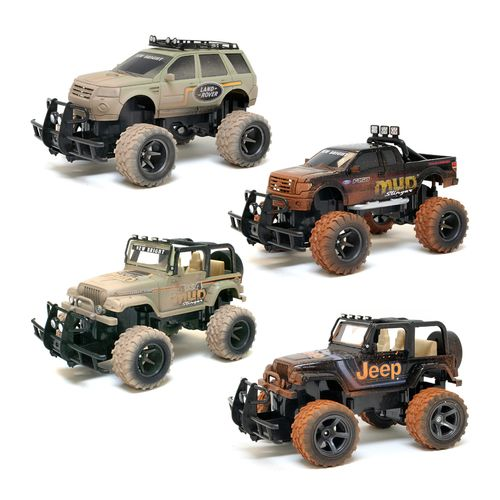 New Bright Mud Slinger Ford F-150 and Jeep Wrangler RC Assortment - view number 1
