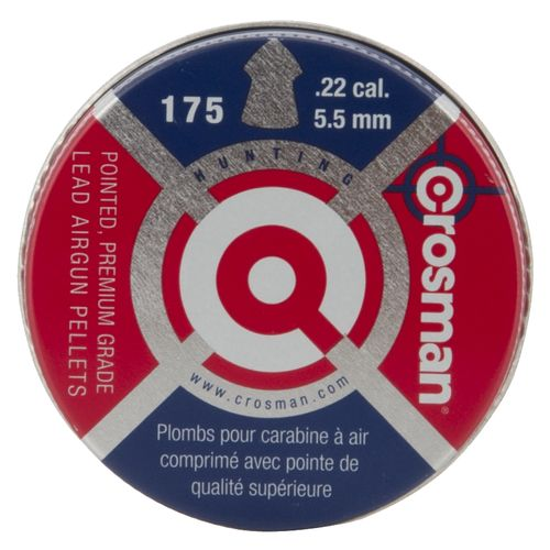 Crosman .22 14.3-Grain Pointed Air Gun Pellets 175-Pack