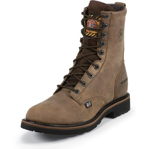 Justin Men's Wyoming Waterproof Steel Toe Work Boots
