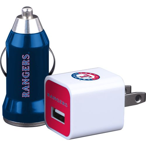 Mizco Texas Rangers Home and Away USB Chargers 2-Pack