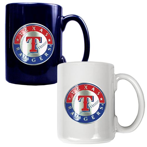 Great American Products Texas Rangers 15 oz. Ceramic Mug Set
