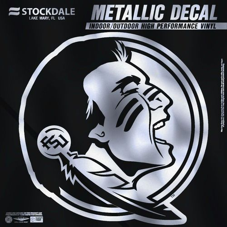"Stockdale Florida State University 6"" x 6"" Metallic"