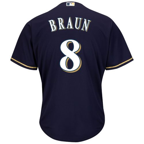 Majestic Men's Milwaukee Brewers Ryan Braun #8 Cool Base® Alternate Jersey - view number 1