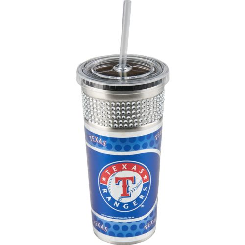 Great American Products Texas Rangers 16 oz. Bling Travel Tumbler