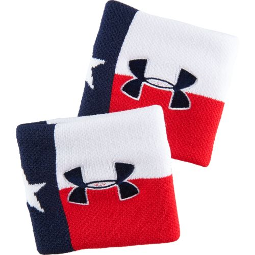 Under Armour® Men's Texas Flag Jacquard Wristbands 2-Pack