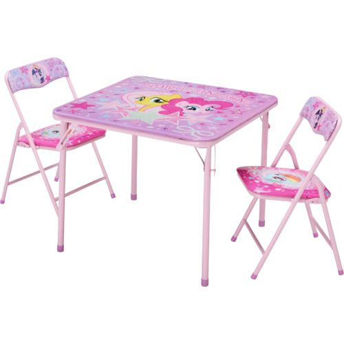Hasbro Kids My Little Pony 3 Piece Table And Chairs Set