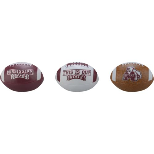 Rawlings® Boys' Mississippi State University 3rd Down Softee 3-Ball Football Set