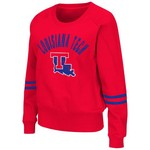 Colosseum Athletics Women's Louisiana Tech University Lunar Scoop Neck Fleece