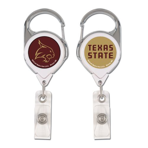 WinCraft Texas State University 2-Sided Retractable Premium Badge