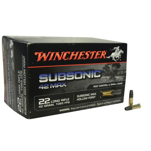 Display product reviews for Winchester Max .22LR 42-Grain SubSonic Hollow Point Rimfire Rifle Ammunition