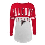 5th & Ocean Clothing Juniors' Atlanta Falcons Baby Jersey Long Sleeve T-shirt