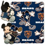 The Northwest Company Chicago Bears Mickey Mouse Hugger and Fleece Throw Set