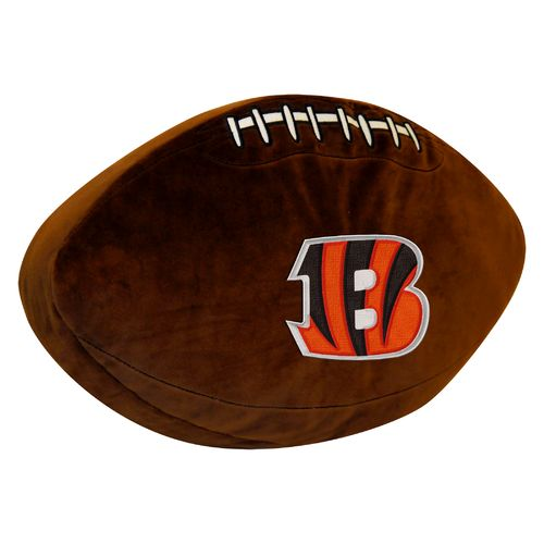 The Northwest Company Cincinnati Bengals Football Shaped Plush Pillow