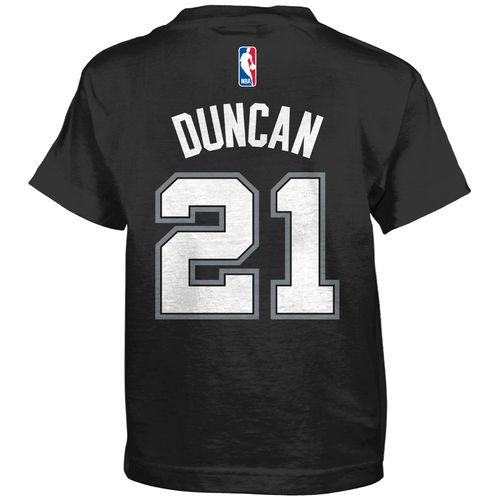 adidas™ Boys' San Antonio Spurs Tim Duncan #21 Flat Player T-Shirt