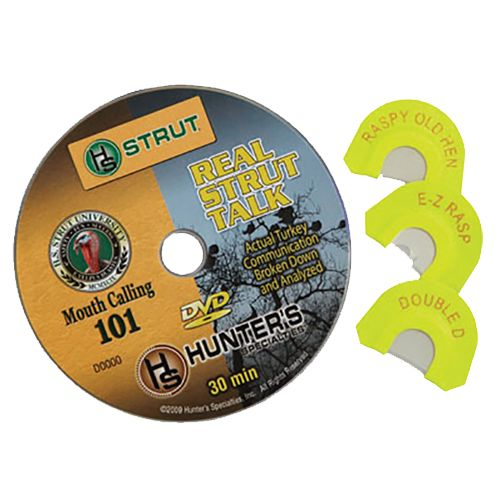 Hunter's Specialties® Strut U™ Mouth Calling 101 DVD Combo Pack with 3 Diaphragm Calls