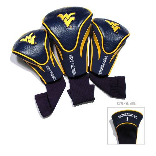 Team Golf West Virginia University Contour Sock Head Covers 3-Pack