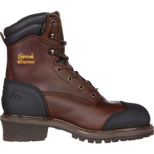 Chippewa Boots Men's Oiled Waterproof Insulated Composition-Toe Logger Rugged Outdoor Boots
