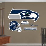 Fathead Seattle Seahawks Real Big Team Logo Decal - view number 1