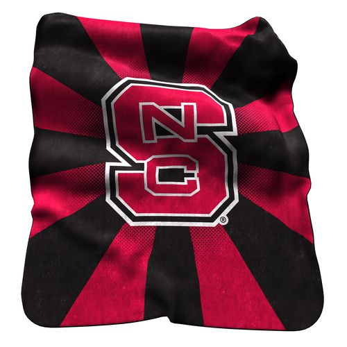 Logo North Carolina State University Raschel Throw