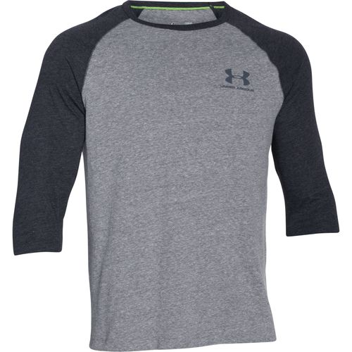 Under armour men 39 s triblend 3 4 sleeve t shirt academy for Under armour men s shirts clearance
