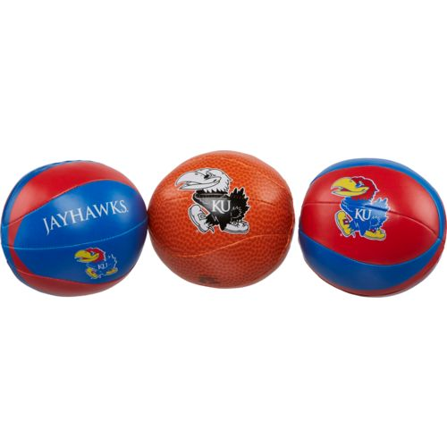 Rawlings® University of Kansas 3-Point Shot Softee Basketballs 3-Pack