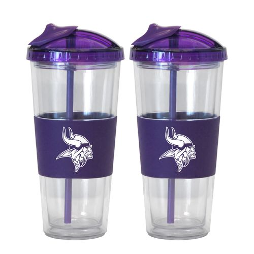 Boelter Brands Minnesota Vikings 22 oz. No-Spill Straw Tumblers 2-Pack