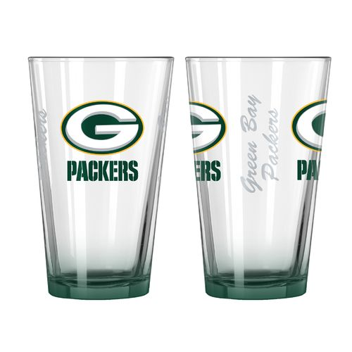 Boelter Brands Green Bay Packers Elite 16 oz. Pint Glasses 2-Pack