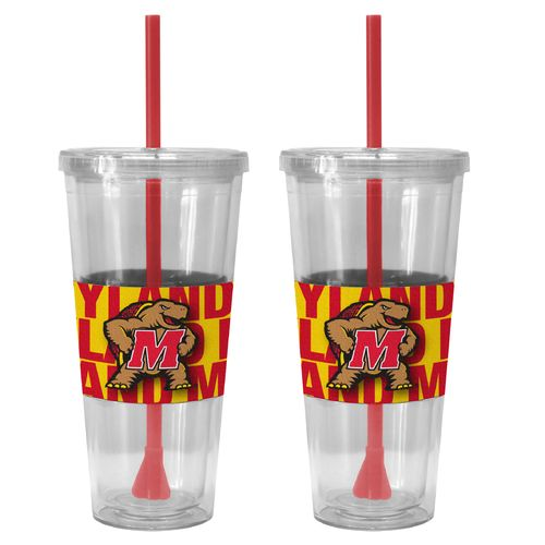 Boelter Brands University of Maryland Bold Neo Sleeve 22 oz. Straw Tumblers 2-Pack