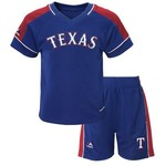 Majestic Toddlers' Texas Rangers Baseball Classic Shirt and Short Set