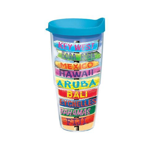 Tervis Tropical Destination Signs 24 oz. Tumbler with