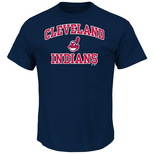 Majestic Men's Cleveland Indians Heart and Soul T-shirt