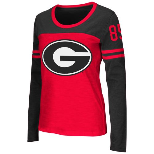 Colosseum Athletics™ Women's University of Georgia Hornet Football Long Sleeve T-shirt