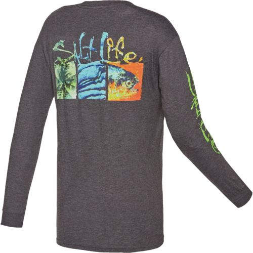 Salt Life™ Men's Trippy Boxes Long Sleeve T-shirt