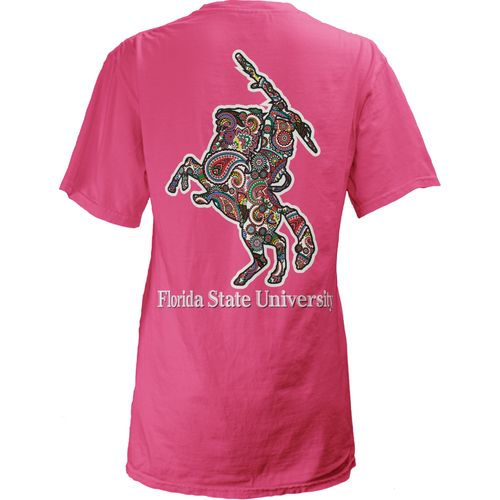 Three Squared Juniors' Florida State University Preppy Paisley T-shirt